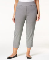 Alfred Dunner Plus Size City Life Collection Checked Cropped Pants