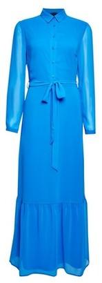 Dorothy Perkins Womens Cobalt Chiffon Shirt Maxi Dress, Cobalt