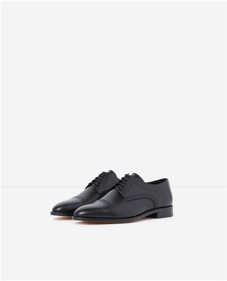 The Kooples Formal lace-up black leather shoes
