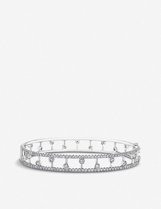 De Beers Dewdrop 18ct white gold and diamond band bracelet