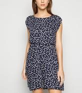 New Look Ditsy Floral V Back Dress