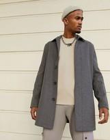 Asos Design DESIGN wool mix coat in gray