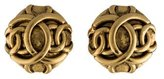 Chanel CC Button Earrings