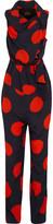 Vivienne Westwood Polka-dot crepe de chine jumpsuit