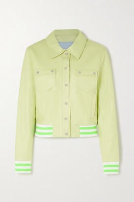 The Mighty Company The Witney Leather Jacket - Green