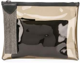 Fabiana Filippi panelled clutch