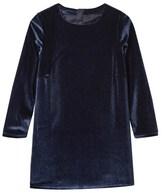Billieblush Navy Velvet Dress with Sequin Detail