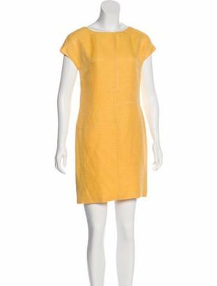 Valentino Vintage Linen Dress Yellow
