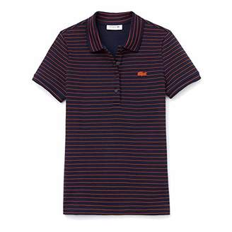 Lacoste Women's Short Sleeve Slim FIT Stretch Striped Polo