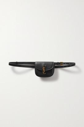 Saint Laurent Kaia Leather Belt Bag - Black