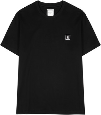 Wooyoungmi Black logo-print cotton T-shirt