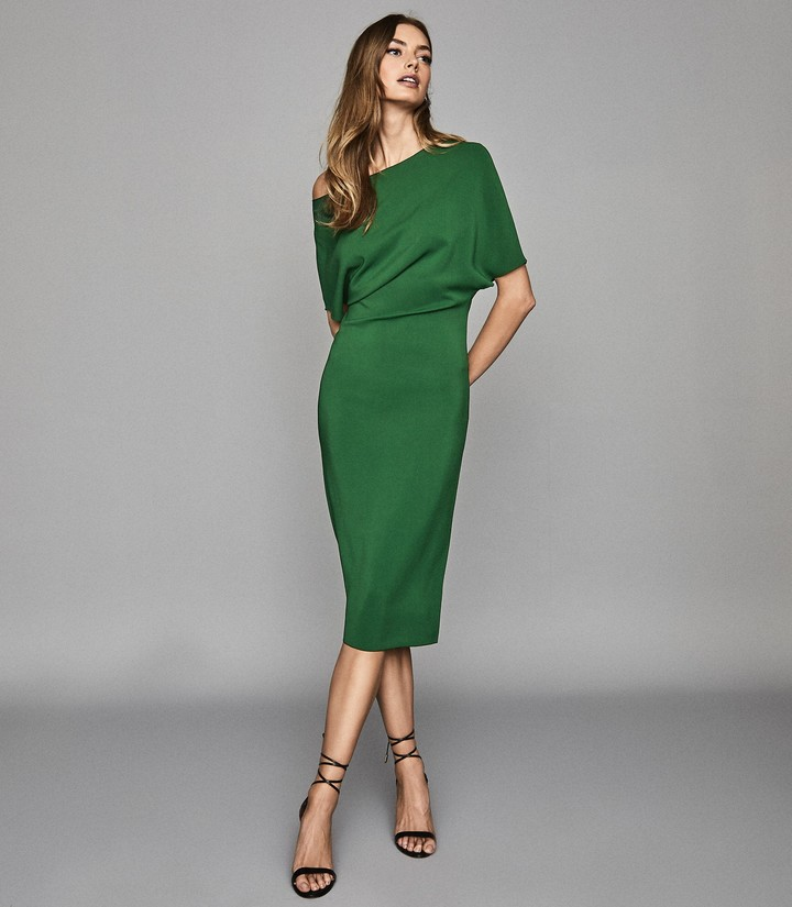 Reiss Madison - Slim Fit Dress in Bright Green