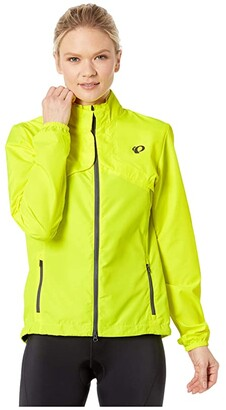 Pearl Izumi Quest Barrier Convertible Jacket (Screaming Yellow/Turbulence) Women's Clothing