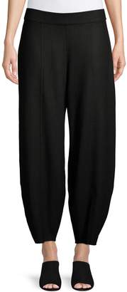 Eileen Fisher Banded Wool Ankle Pants
