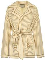 Gucci Pinstripe Belted Cardigan