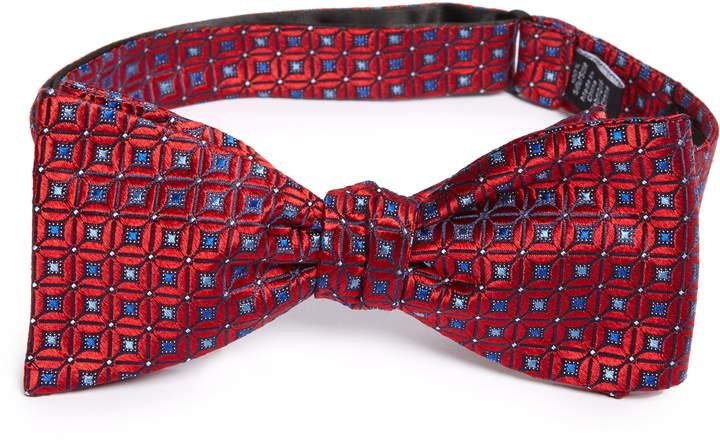 Nordstrom Malia Geo Print Silk Bow Tie