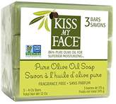 Kiss My Face Naked Pure Olive Oil Moisturizing Bar Soap, 4ounce, 3 Count