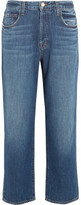 J Brand Ivy Cropped High-rise Straight-leg Jeans - Mid denim
