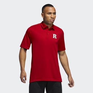 adidas Scarlet Knights Game Mode Coach Polo Shirt