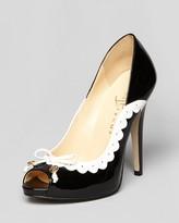 Ivanka Trump Peep Toe Platform Spectator Pumps - Becka High Heel