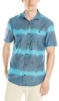 Buffalo David Bitton Men's Silky Short Sleeve Cotton Ikat Shirt