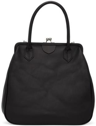 Y's Ys Black Clasp Top Handle Bag