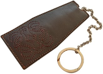 Loewe Brown Leather Bag charms