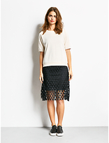 Hush A-Line Star Skirt, Black