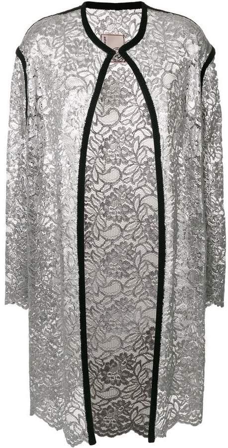 Antonio Marras lace-embroidered cardi-coat