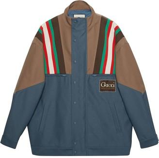 Gucci Drill Striped Bomber Jacket