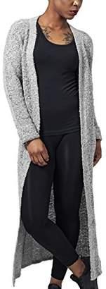 Urban Classic Women's Ladies Boucle Cardigan Cape, (Grey), XL