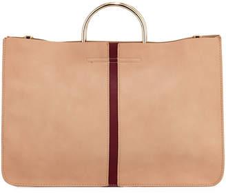 Urban Originals Two-Tone Large Stripe Tote Bag