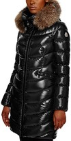 Moncler Aphia Fox Fur Hood Long Down Coat