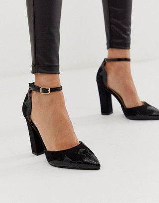 Raid RAID Rayna black western detail heeled shoes