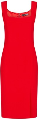 Dolce & Gabbana Square Neck Fitted Dress