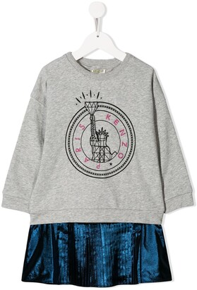 Kenzo Kids Metallic Contrast Dress
