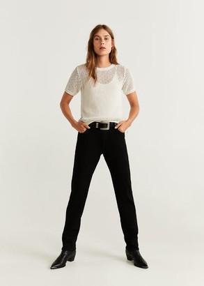 MANGO Recycled cotton top ecru - XS - Women