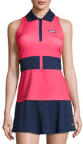 Fila MB Court Central Sleeveless Polo Shirt, Red