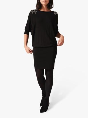 Phase Eight Elizabeth V-Back Dress, Black