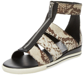 Marc by Marc Jacobs Gia Embossed Leather Zip Sandal