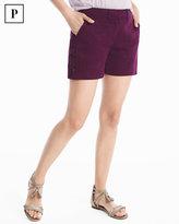 White House Black Market Petite 4-inch Lace-Up Shorts