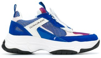 Calvin Klein Jeans Panelled Low-Top Sneakers