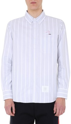 Thom Browne Ball Embroidered Striped Shirt