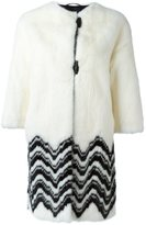 Ermanno Scervino three-quarters sleeved zig-zag coat