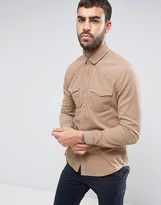 Asos Regular Fit Cord Western Shirt