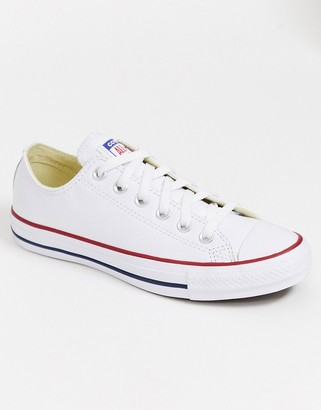 Converse Chuck Taylor All Star Ox white leather trainers