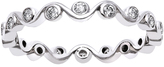 1/3 CT TW Diamond 10K White Gold Eternity Stackable Ring by Moda Di Oro
