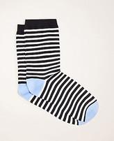 Ann Taylor Stripe Trouser Socks