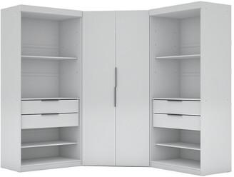 Manhattan Comfort Set Of 3 Mulberry 2.0 Semi Open 3-Sectional Corner Closets