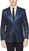 Stacy Adams Men's Single Breasted Electric Static Sport Coat